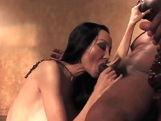Skinny Asian Cougar Ange Venus Takes On Black Cokc