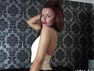 Riah Read In Milky Top And Stockings - Latexheavenvideo