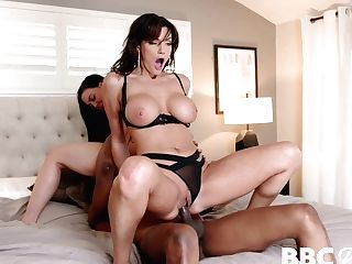 Big Black Cock Luvs Fucking Huge-titted Honey Whitney Wright And Her Sexy Stepmom