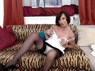 Old Granny Inke Faux-cocks Her Soaking Moist Cunt
