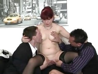 Matures Office Bitch Likes Two Spears