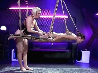 Gonzo Lezzie Domination & Submission Flick Featuring Light-haired Mistress And Asian Subjugated Christy Love